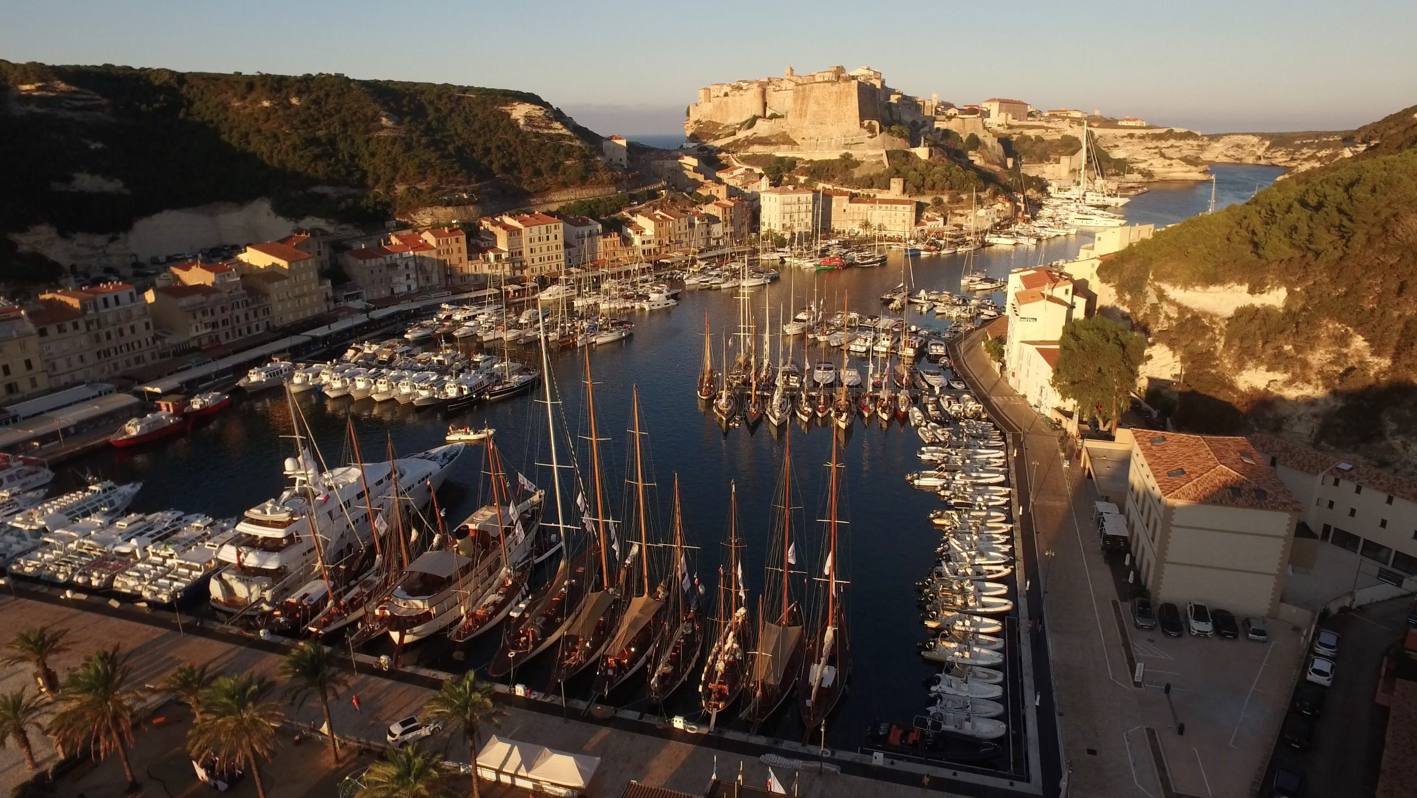 Port de Bonifacio photo Emmanuel Kirch by drone pilot Nicolas Di Stefano DR