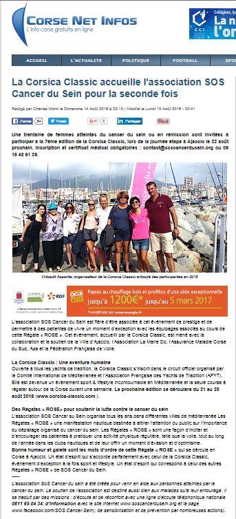 La revue de presse régionale / Corsican media Coverage 2016