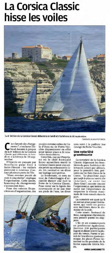 Corse Matin 27 août 2017 page Corse Infos