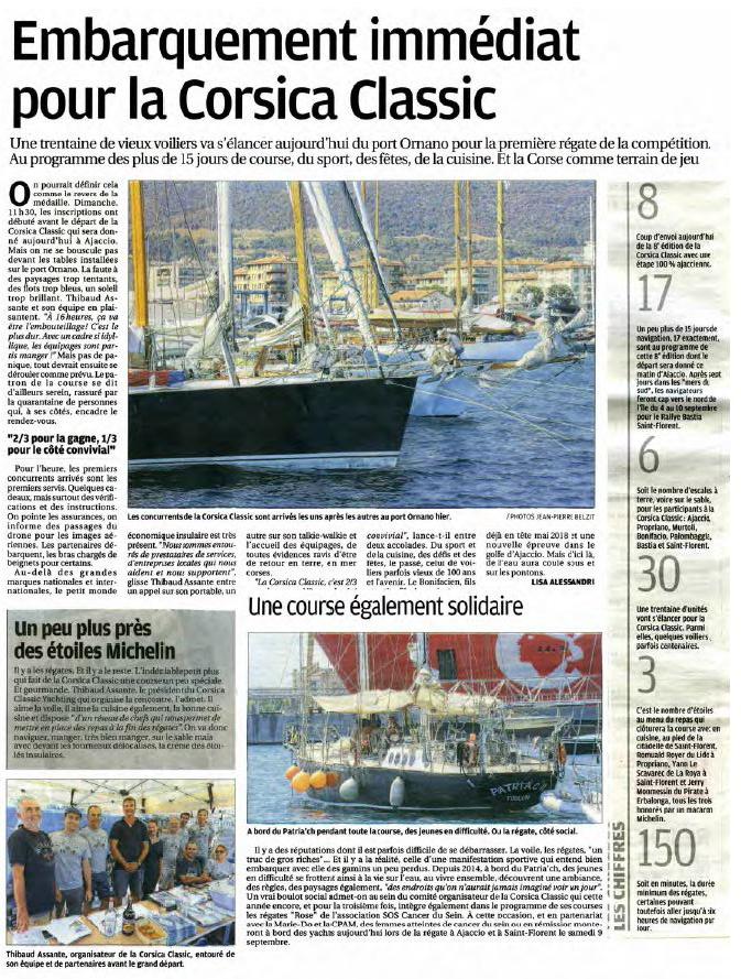 Corse Matin 28 août 2017 page Corse Infos