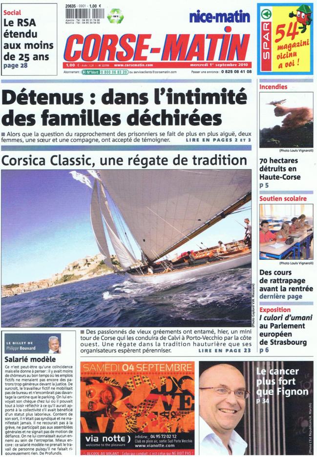 Revue de presse Corsica Classic 2010