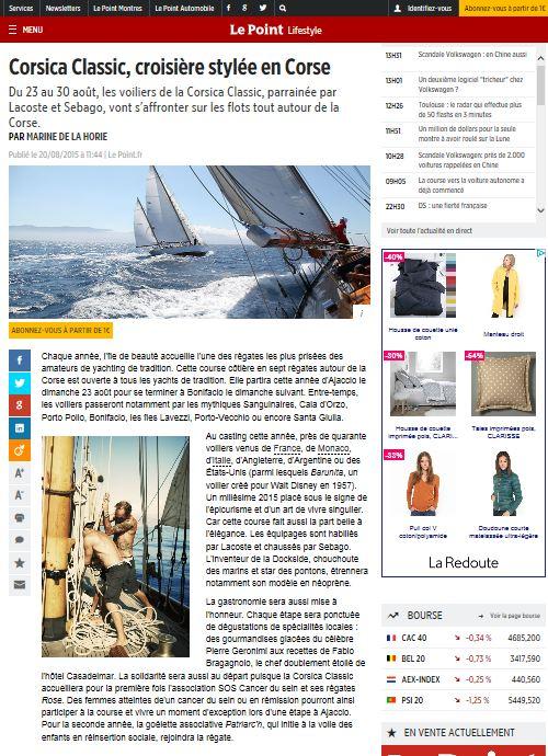 La revue de presse Corsica Classic 2015