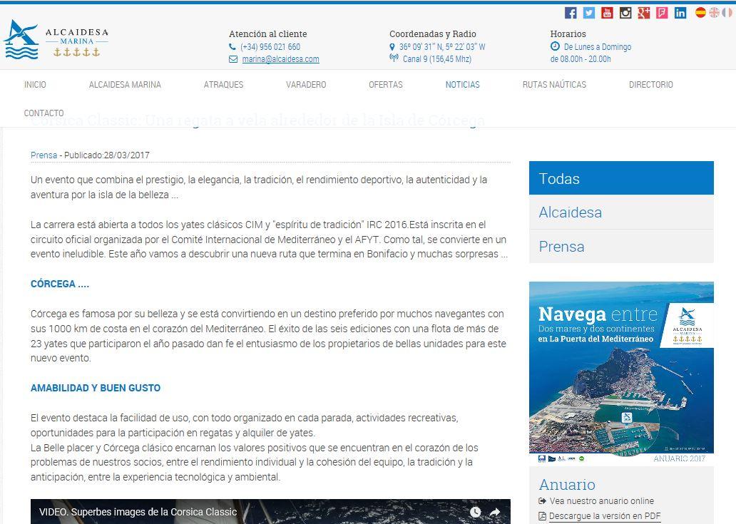 LA REVUE DE PRESSE CORSICA CLASSIC 2017 / International MEDIA COVERAGE 2017