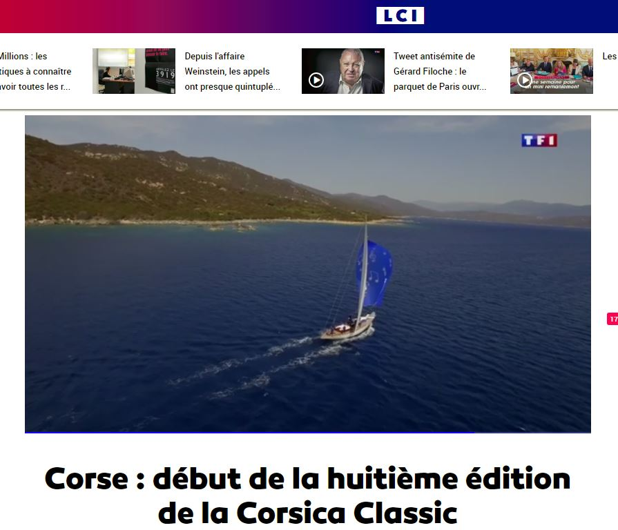 LA REVUE DE PRESSE Nationale CORSICA CLASSIC 2017 /  French MEDIA COVERAGE 2017
