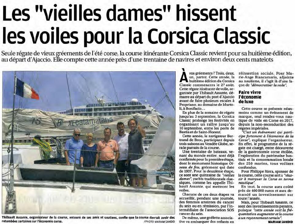 Corse Matin 10 août 2017 page Corse Infos