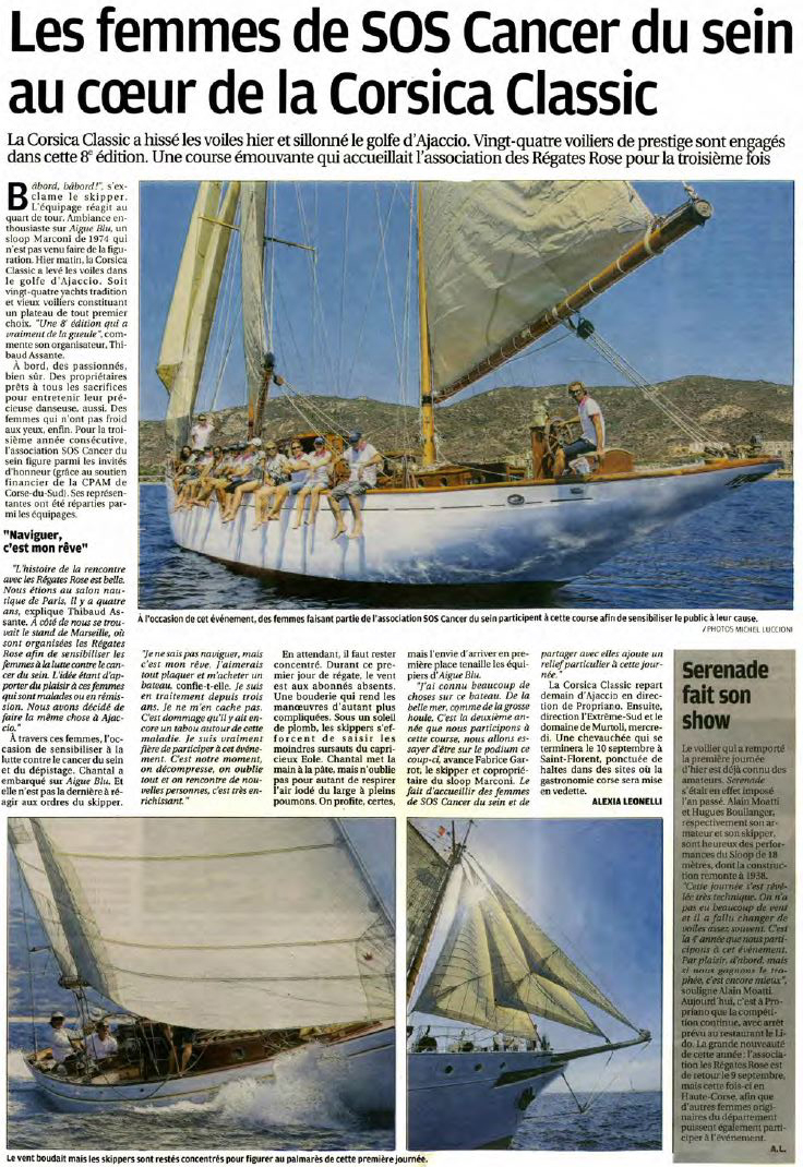 Corse Matin 29 août page Corse Infos