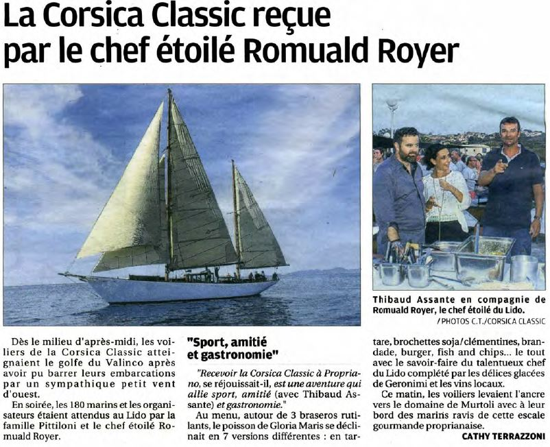 Corse Matin 30 août 2017 page Propriano