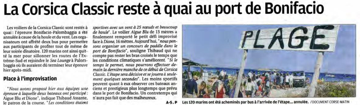 Corse Matin 02 septembre 2017 page Corse Infos
