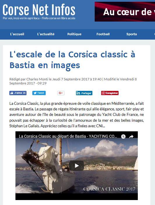 Corse Net Infos, 7 septembre