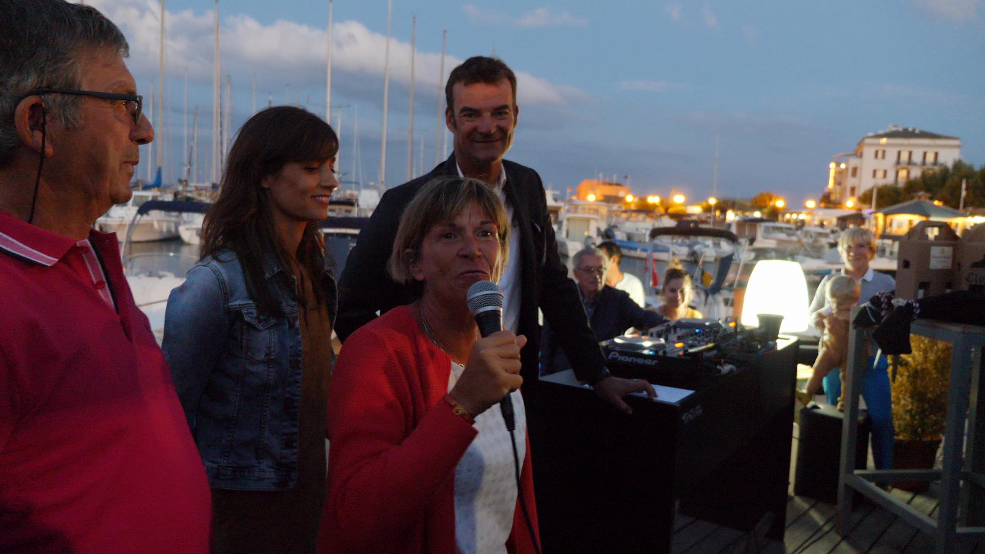 CC 2018 Remise des prix Bastia - Macinaggio Mr le Maire Patrice Quilici, Zaza Murzilli, Tania Young Marraine de la Corsica Classic, Thibaud Assante photo JP Pyrée DR
