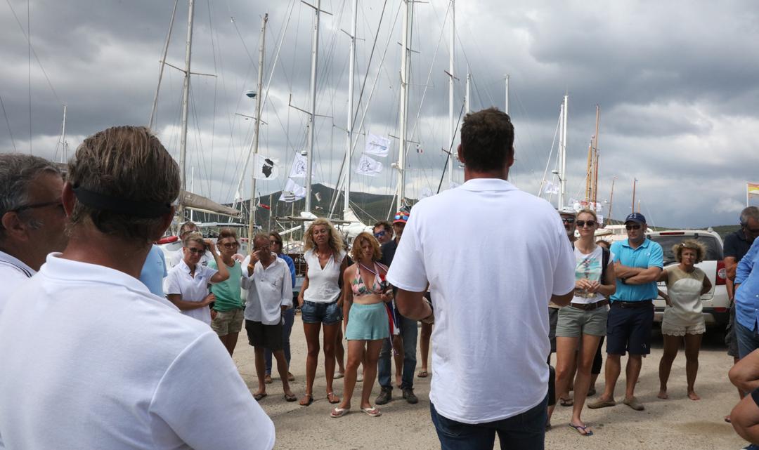 Port de Macinaggio briefing skipper photo Françoise Tafani DR