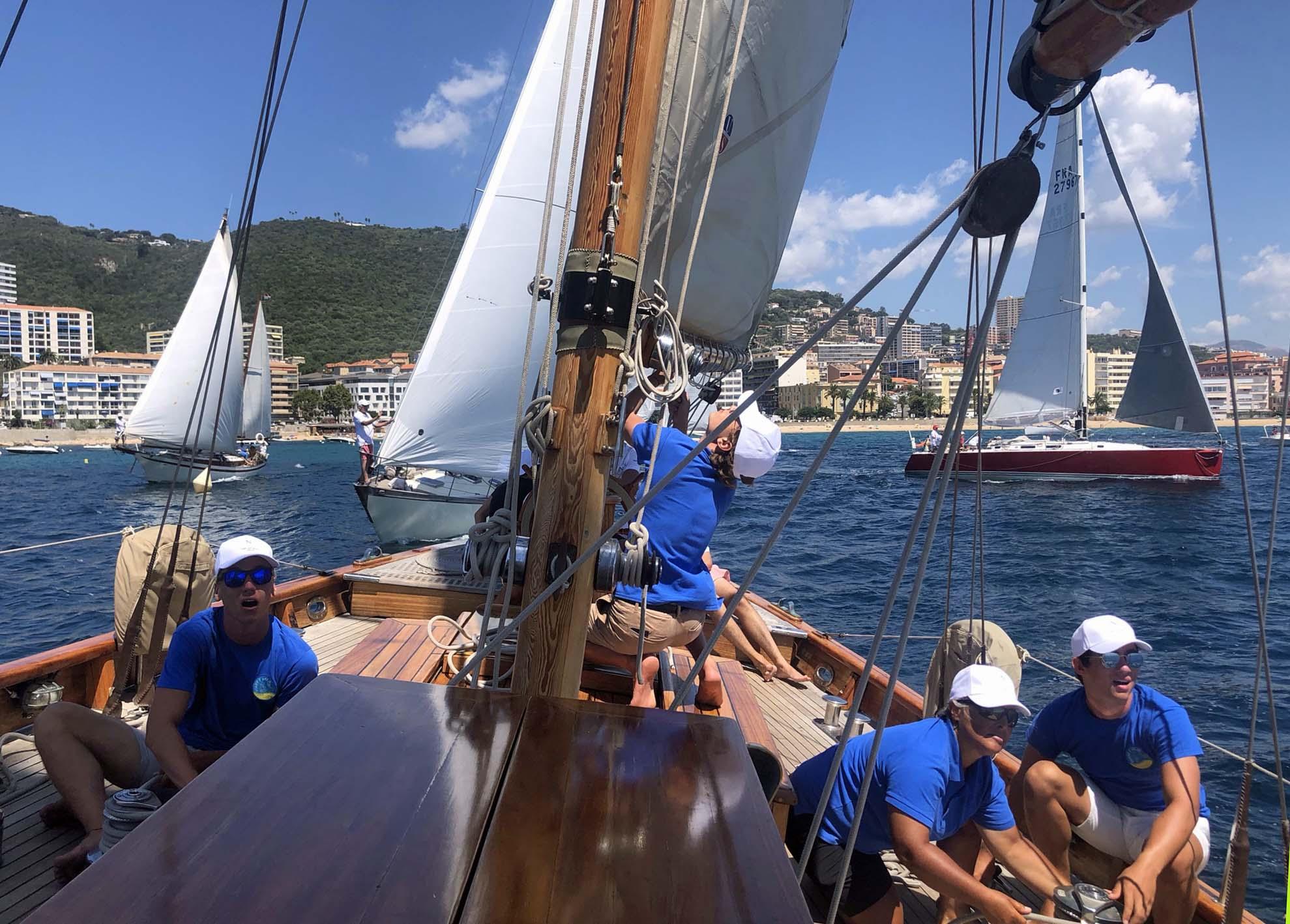 Régates Napoléon 2020 ligne de départ SY Hygie x Squadra Mare e Vela photo Katia Kulawick-Assante DR
