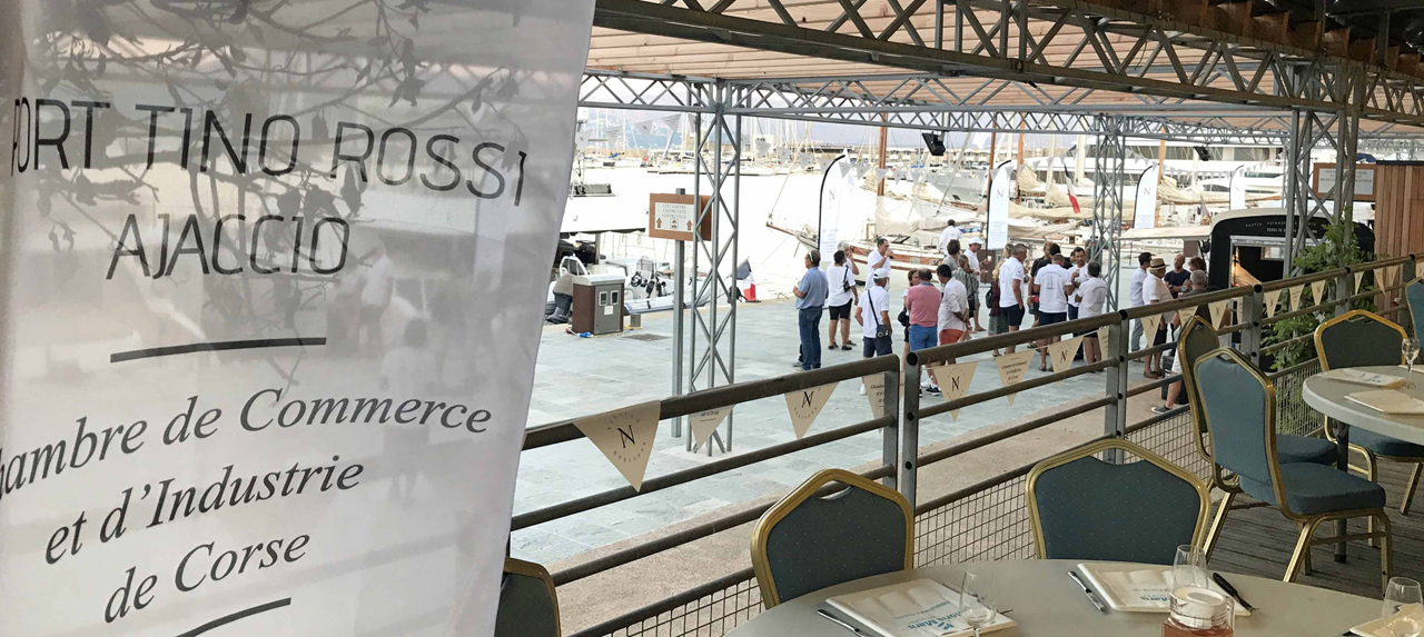 Régates Napoléon 2020 Quai Brancaleoni Port Tino Rossi diner Gloria Maris Groupe x CCY photo Thibaud Assante DR