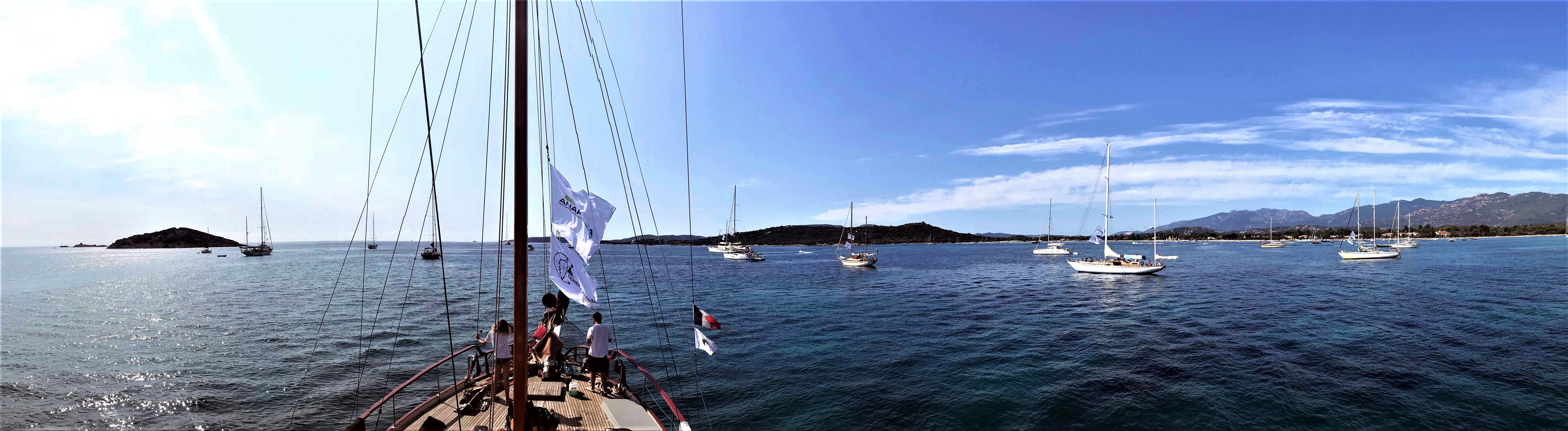 Saint-Cyprien flotte au mouillage Corsica Classic 2018 photo Thibaud Assante DR