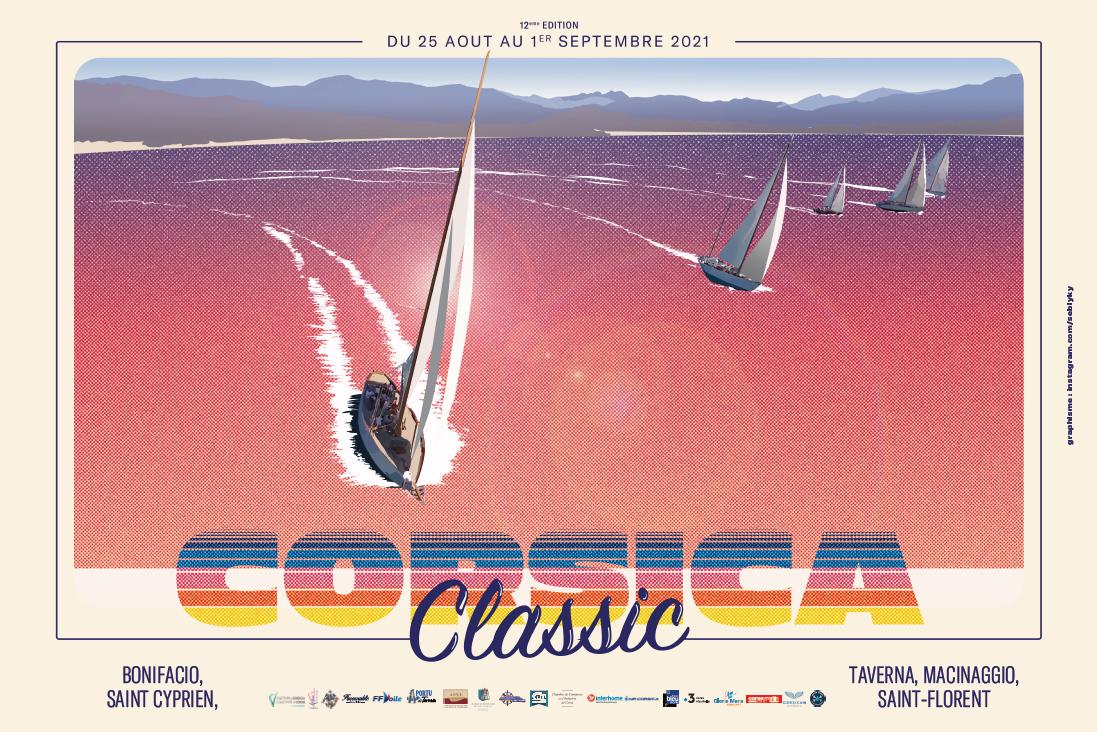 Affiche Corsica Classic 2021 Seb Lyky design DR