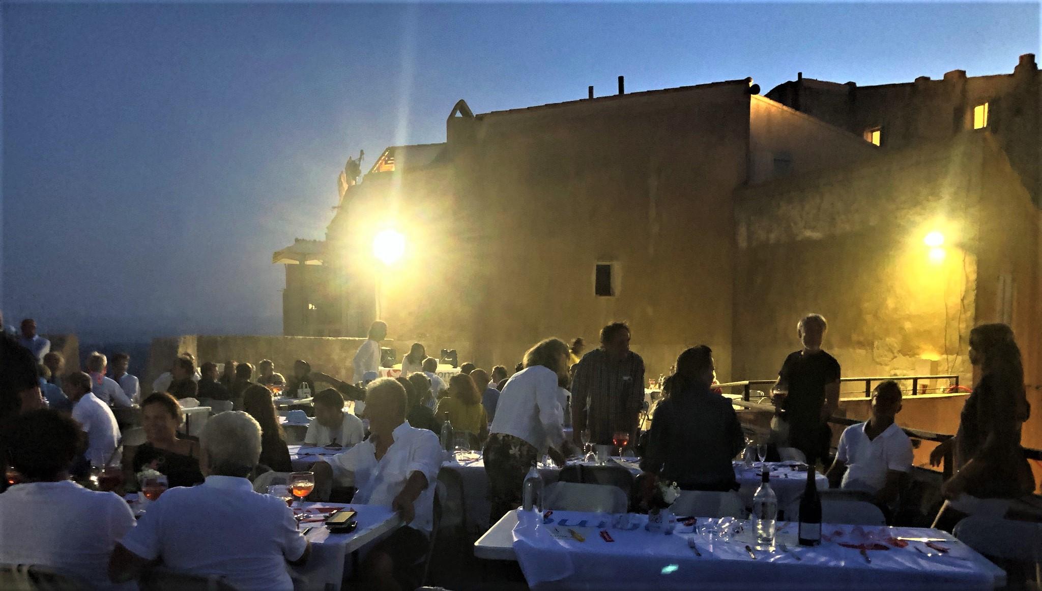 Bonifacio Bastion de l'Etendard remise des prix  et diner du Trophée de la Ville Antoine Zuria photo Katia Kulawick Assante DR