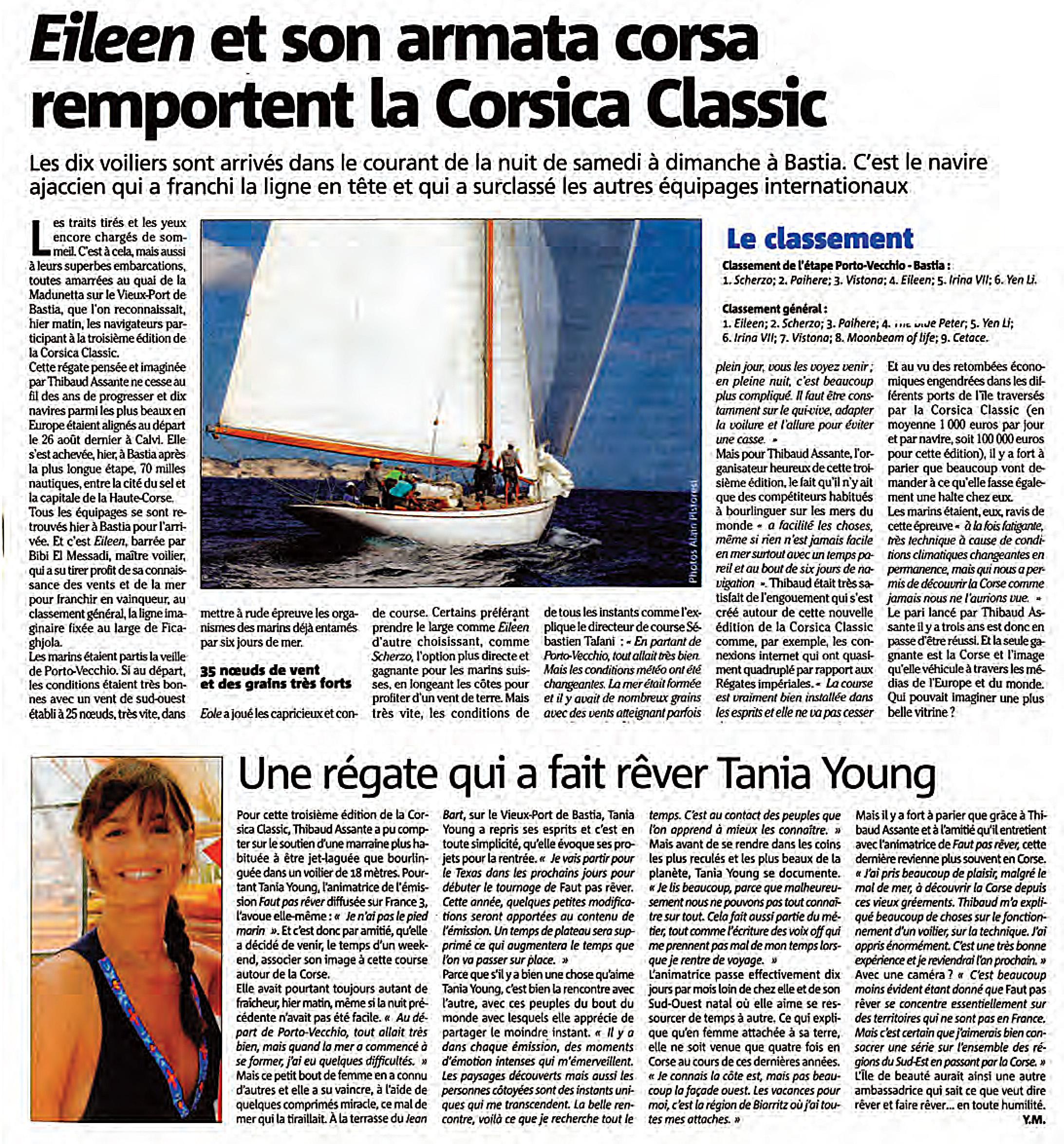 Revue de presse Corsica Classic 2012