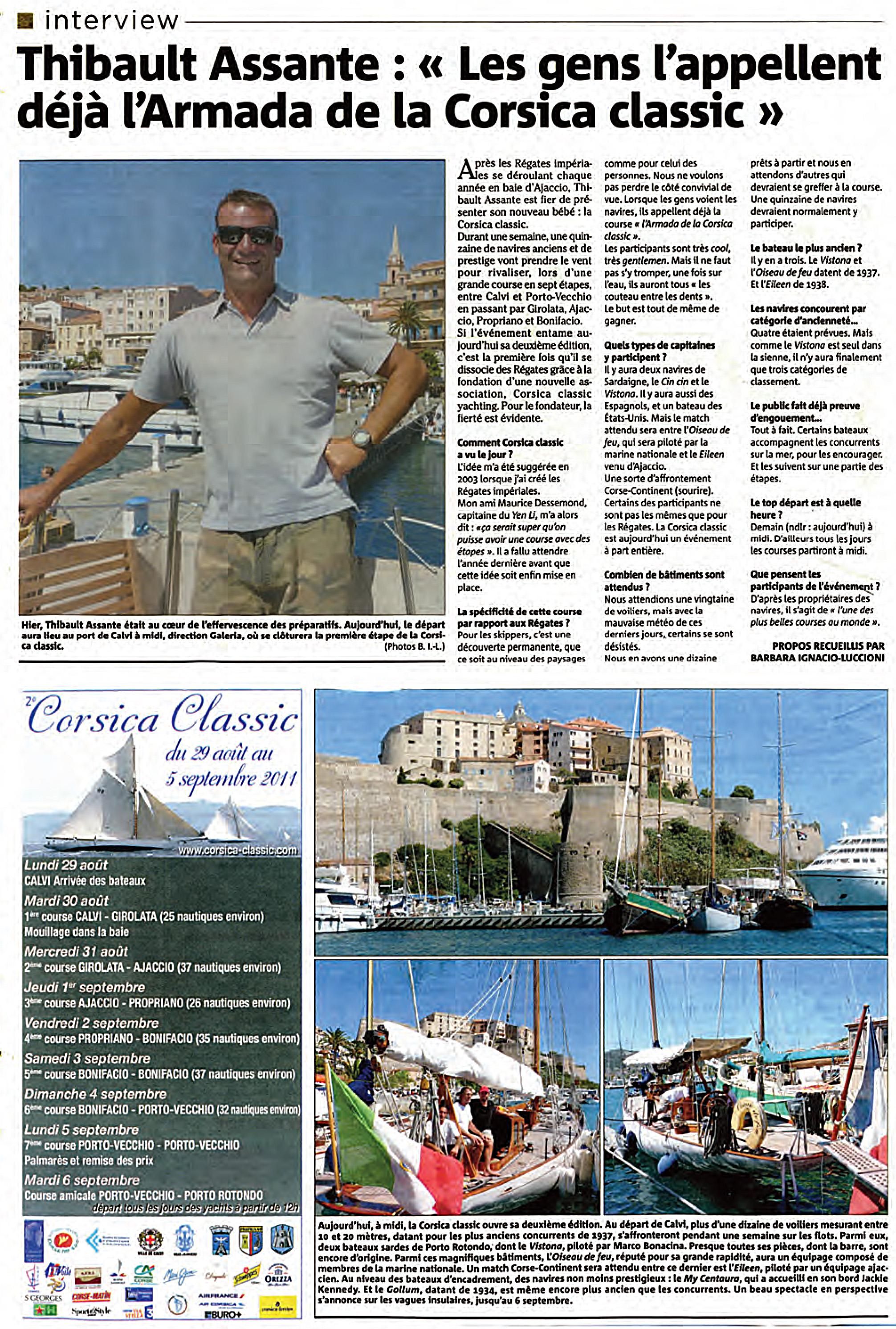 Revue de presse Corsica Classic 2011