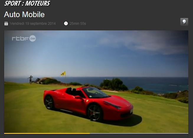 Auto Mobile RTBF Ferrari Corsica Classic 19/09/14