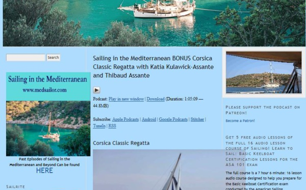 Sailing in the Mediterranean BONUS Corsica Classic Regatta with Katia Kulawick-Assante and Thibaud Assante